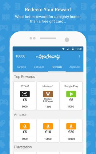 vue appbounty l'app qui te paye pour téléger des app sur android et iphone