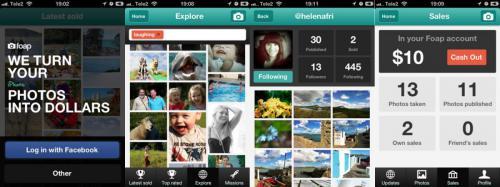 screen foap app mobile pour gagner de l'argent