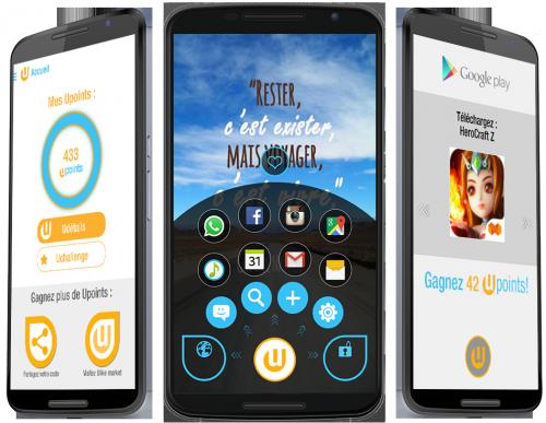 Vue de l'app mobile ULIKE sur android
