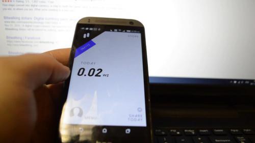 vue sur mobile bitwalking gain argent
