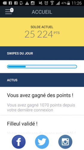 design swiper app argent mobile